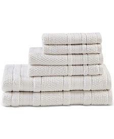 Madison Park Essentials Adrien Cotton 6-Pc. Super-Soft Towel Set