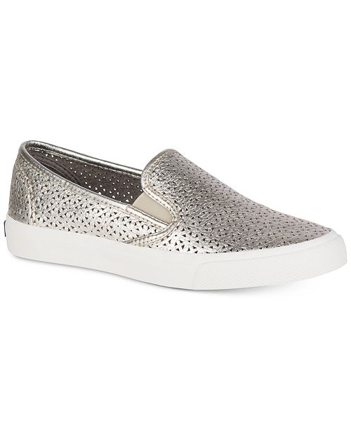 c3591b2a7b4a Sperry Women's Seaside Perforated Slip-On Sneakers & Reviews ...