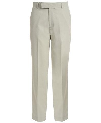 Calvin Klein Stretch Tick Weave Pants, Big Boys