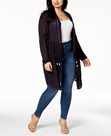 Love Scarlett Plus Size Pointelle Duster Cardigan