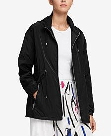 DKNY Hooded Drawstring-Waist Jacket, Created for Macy's