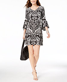 I.N.C. Petite Lantern-Sleeve Shift Dress, Created for Macy's