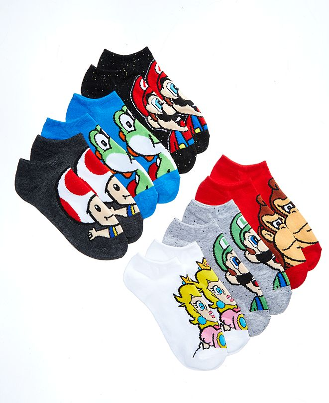 Mario Bros. Nintendo's 6-Pk. Graphic-Print Socks, Little Boys