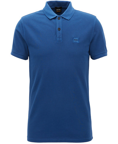 BOSS Men's Slim-Fit Piped Cotton Polo Shirt