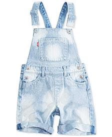 Levi's® Cotton Summer Love Shortall, Little Girls