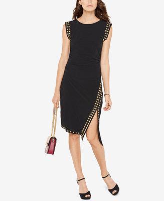 michael kors studded sheath dress  reviews  dresses