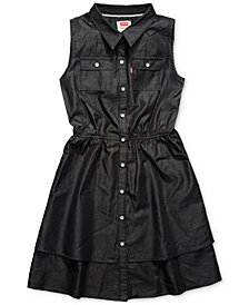 Levi's® Tiered Woven Dress, Big Girls