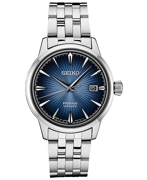 Seiko Men's Automatic Presage Stainless Steel Bracelet Watch 40.5mm