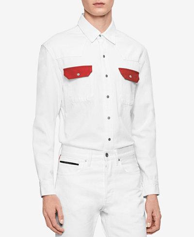 Calvin Klein Jeans Men's Archive Western Contrast Shirt
