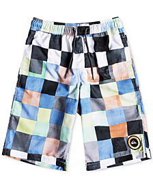 Quiksilver Check-Print Swim Trunks, Big Boys