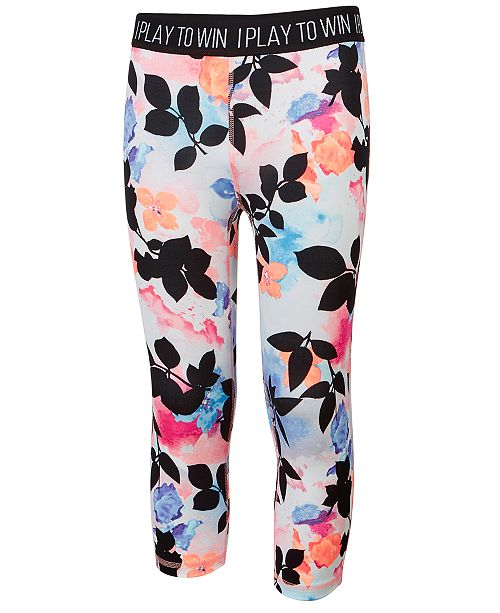 Ideology Tropical-Print Cropped Leggings, Created for Macy's