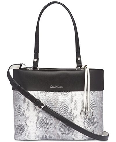 Calvin Klein Patty Snake Large Tote