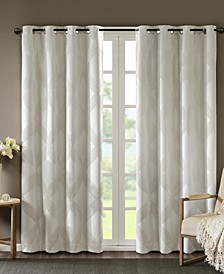 """CLOSEOUT! Bentley 50"""" x 84"""" Ogee Jacquard Total Blackout Window Panel"""