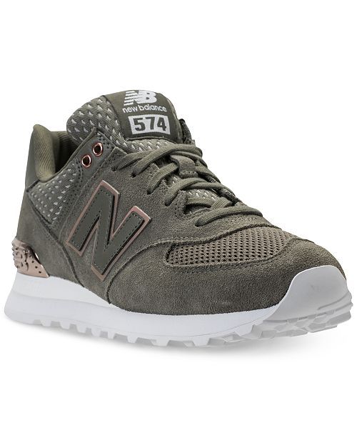 e0711e060e482 ... New Balance Women s 574 Rose Gold Casual Sneakers from Finish ...