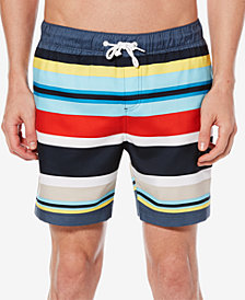 "Original Penguin Men's Large Striped 6"" Swim Suit"