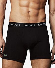 Lacoste Men's 3-Pk. Microfiber Performance Boxer Briefs