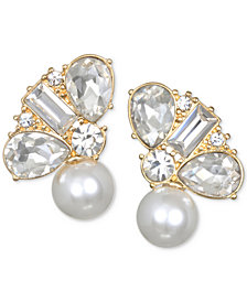 Jewel Badgley Mischka Crystal & Imitation Pearl Stud Earrings