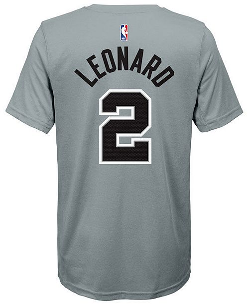a8583557a2d ... Nike Kawhi Leonard San Antonio Spurs Statement Name and Number T-Shirt