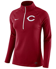 Nike Women's Cincinnati Reds Half-Zip Element Pullover