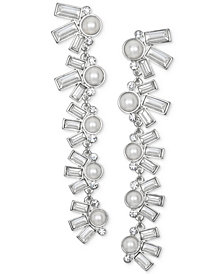 Jewel Badgley Mischka Crystal & Imitation Pearl Linear Drop Earrings
