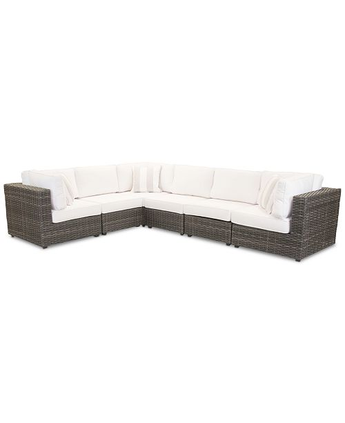Furniture Viewport Outdoor 6 Pc Modular Seating Set 3 Corner Units And