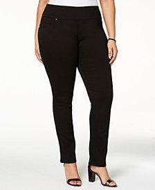 Lee Plus Size Pull-On Black Skinny Jeans