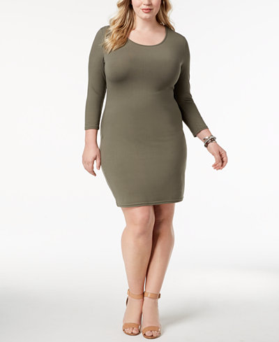 Say What? Trendy Plus Size Bodycon Dress