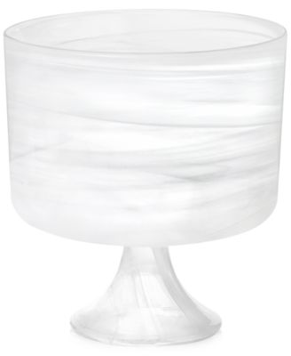 CLOSEOUT! Swirl Glass Footed Bowl, Created for Macy's