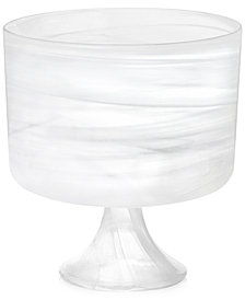Martha Stewart Collection Swirl Glass Footed Bowl, Created for Macy's