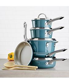 12-Pc. Porcelain Enamel Non-Stick Cookware Set