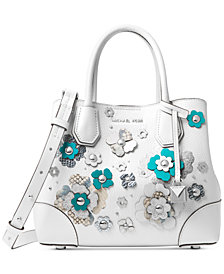 MICHAEL Michael Kors Mercer Gallery Small Floral Embellished Satchel