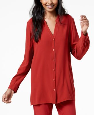 Silk Stand-Collar Tunic, Regular & Petite