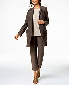 Eileen Fisher Kimono Jacket, Sweater & Skinny Pants