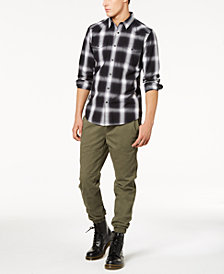 American Rag Men's Plaid & Moto Jogger Pants Separates, Created for Macy's