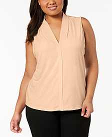 Calvin Klein Plus Size V-Neck Top
