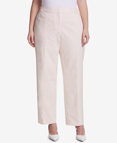 Calvin Klein Plus Size Straight Leg Pants
