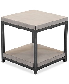Viewport Aluminum Double Shelf End Table, Created for Macy's