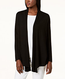 Eileen Fisher Stretch Jersey Open Draped Cardigan