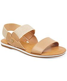 Tommy Hilfiger Women's Geena Stretch Slingback Flat Sandals