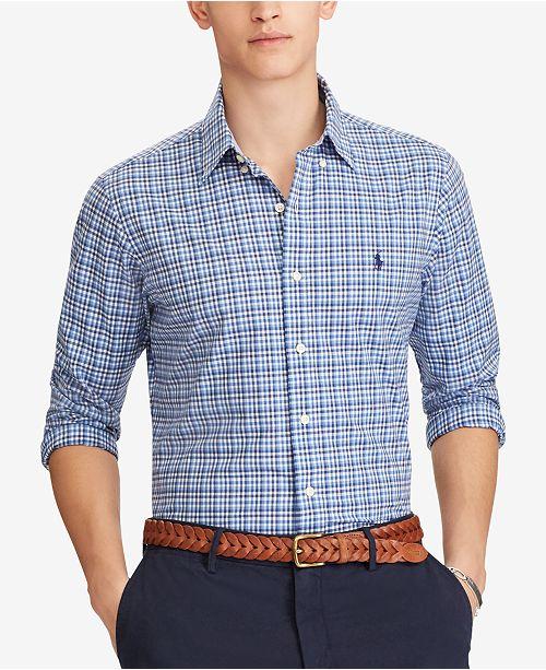 b89392816 Polo Ralph Lauren Men s Slim Fit Checked Shirt   Reviews - Casual ...