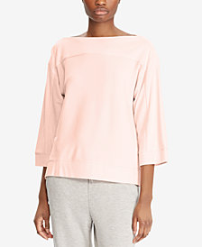 Lauren Ralph Lauren Petite Dropped Shoulder Top