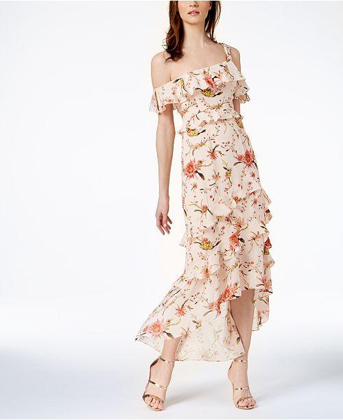 Rachel Zoe Jillian Silk Ruffled High-Low Dress   Reviews - Dresses ... 54b37d1ad