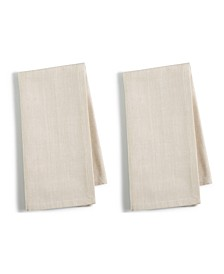 CLOSEOUT! 2-Pc. Beige Cotton Napkin Set, Created for Macy's