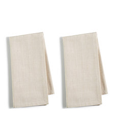 Martha Stewart Collection 2-Pc. Beige Cotton Napkin Set, Created for Macy's