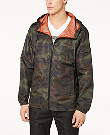 American Rag Men's Camo Hooded Windbreaker, Created for Macy's