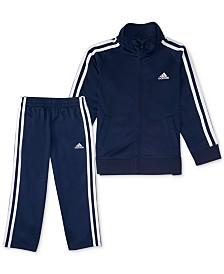 adidas Little Boys 2-Pc. Tricot Jacket & Pants Set