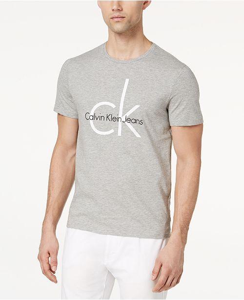 7eeecf183 Calvin Klein Jeans Men's Classic CK Logo-Print T-Shirt & Reviews - T ...