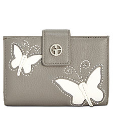 Giani Bernini Leather Butterfly Framed Wallet, Created for Macy's