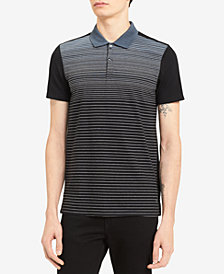 Calvin Klein Men's Liquid Touch Gradient-Stripe Polo
