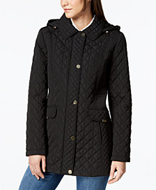 Jones New York Contrast-Quilted Jacket